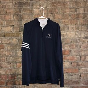 Adidas ClimaLite navy blu quarter zip
